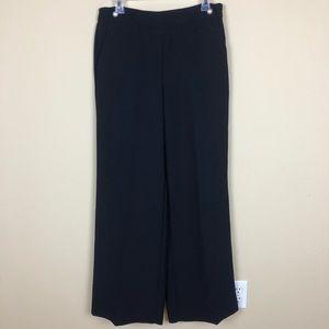 Evan-Picone Black Wide Leg Dress Pants